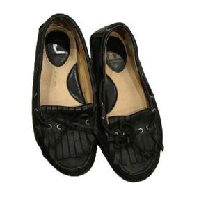 Frye Reagan Kiltie (Black Vintage Leather) loafers